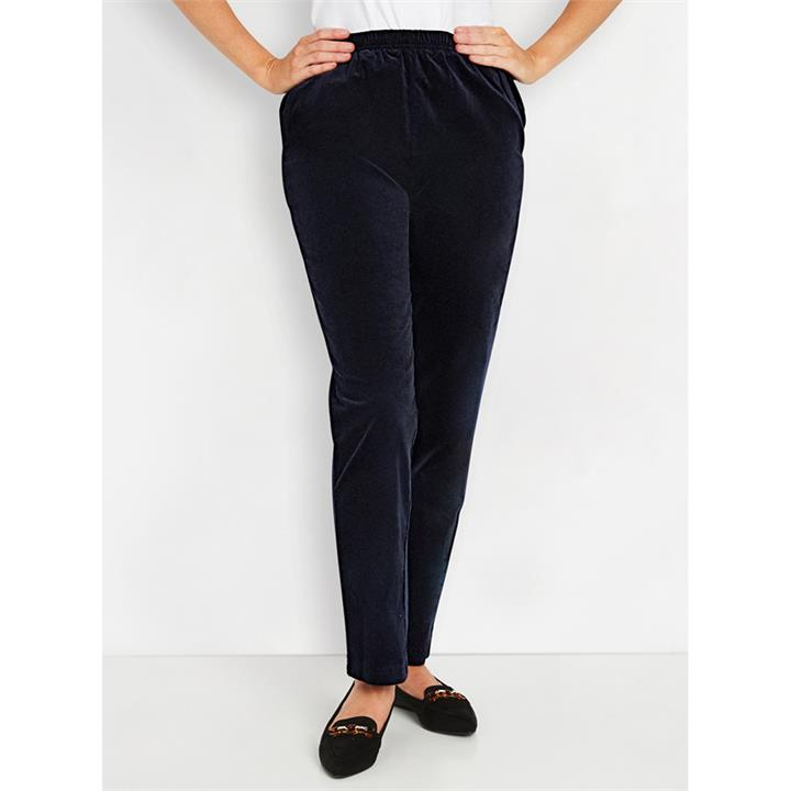 Image of Pull On Stretch Cord Pants Short