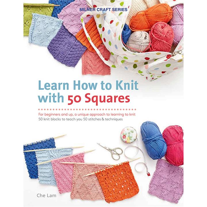 Image of Learn How To Knit With 50 Squares - Books