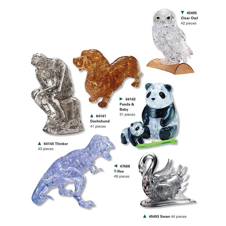 Image of 3D Crystal Puzzles Clear Owl - Jigsaws