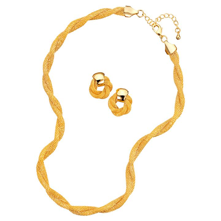 Image of Classic Mesh Necklace & Earrings