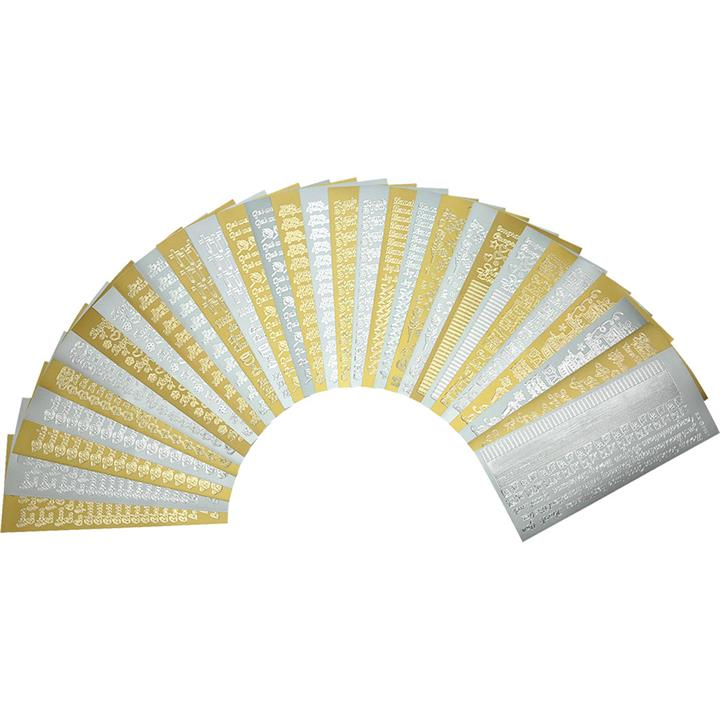 Image of EverydayText Stickers Gold/Silver 30 pcs - Paper Crafts