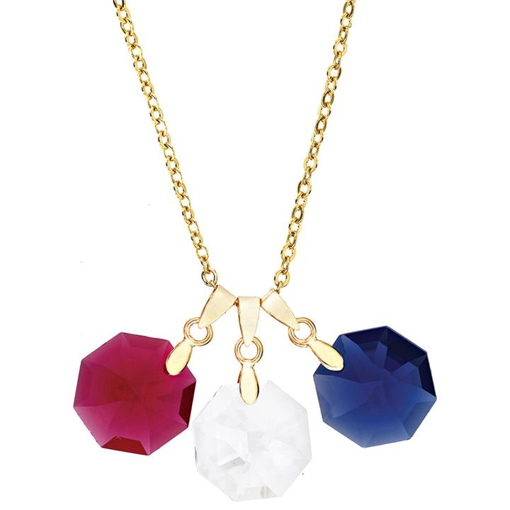 Image of 3 Stone Crystal Necklace