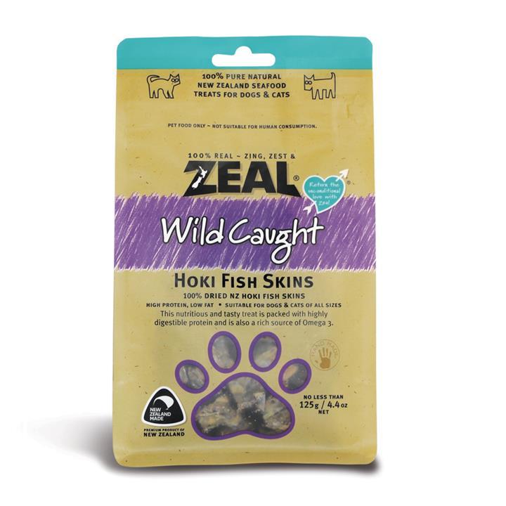 Image of Zeal Free Range Naturals Hoki Fish Skins 125g