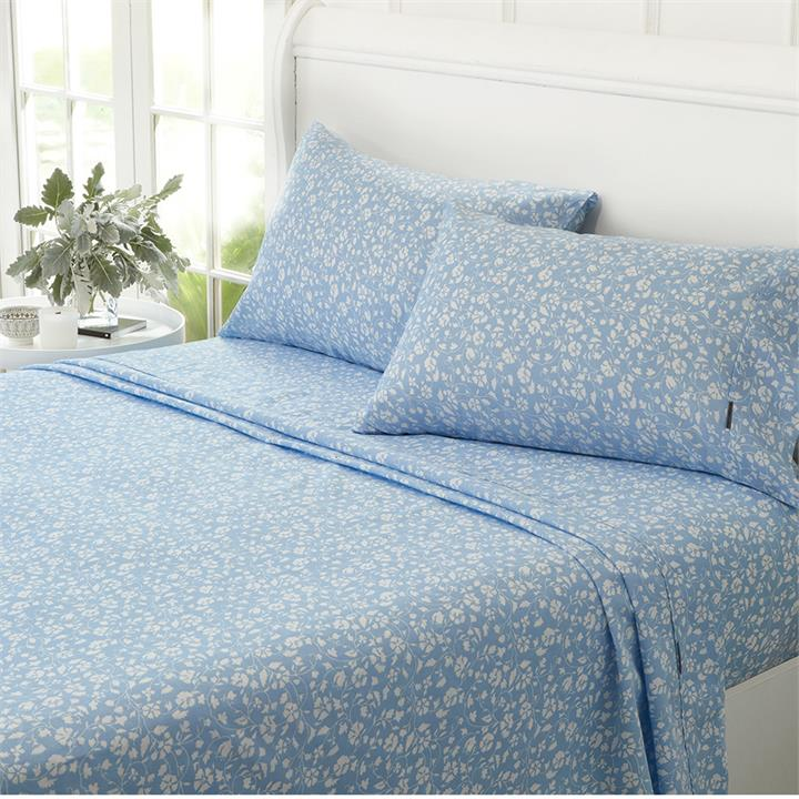 Image of Pansy 1000TC Printed Sateen Cotton Rich Sheet Set