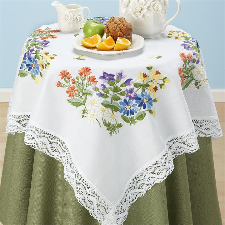 Image of Flowers & Lace Table Topper