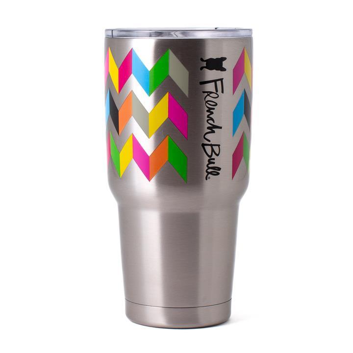 French Bull Jumbo Mug 810ml Stainless Steel Mug Double walled with BPA Free Lid Ziggy