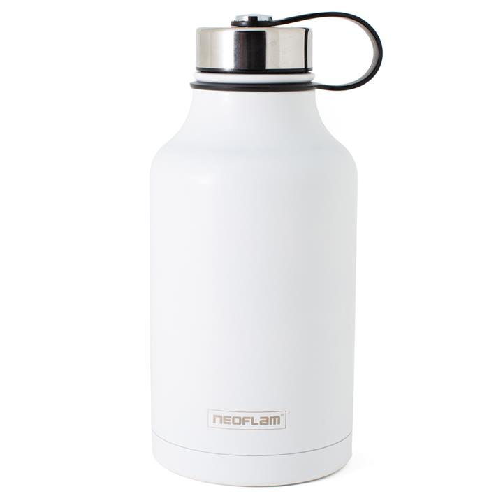 All Day S/Steel, Double Walled and Vacuum Insulated Water Bottle 1.9L White
