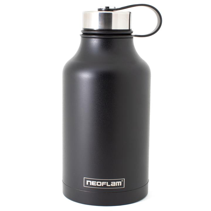 All Day S/Steel, Double Walled and Vacuum Insulated Water Bottle 1.9L Black