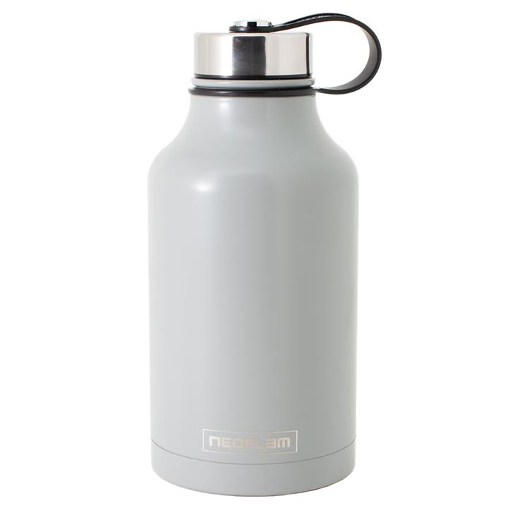 All Day S/Steel, Double Walled and Vacuum Insulated Water Bottle 1.9L Grey