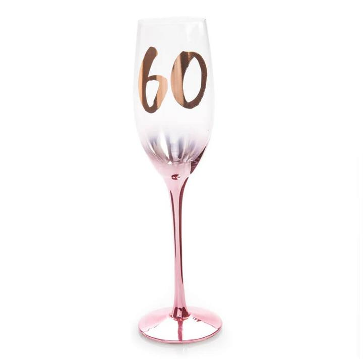 Gift : 60th Birthday Blush Champagne Flute