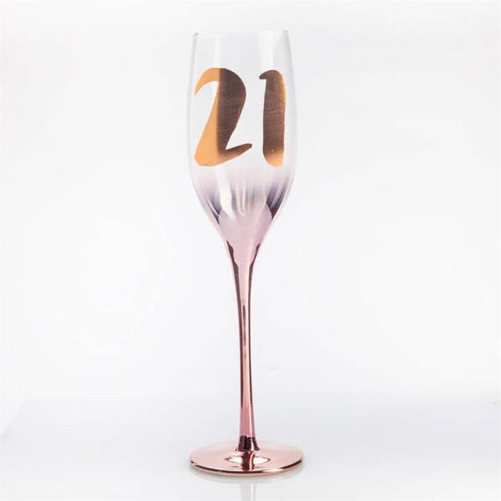 Gift : 21st Blush Champagne Flute