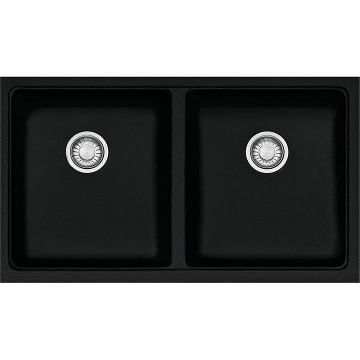 Franke Kubus Double Bowl Sink - Black