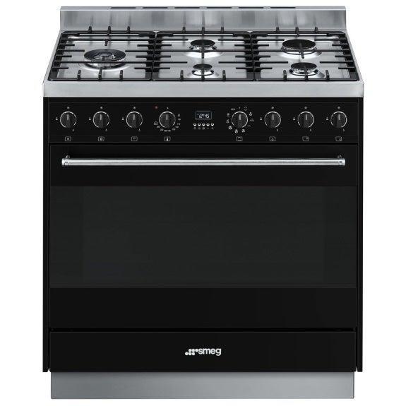 Image of Smeg 90cm Dual Fuel Freestanding Cooker