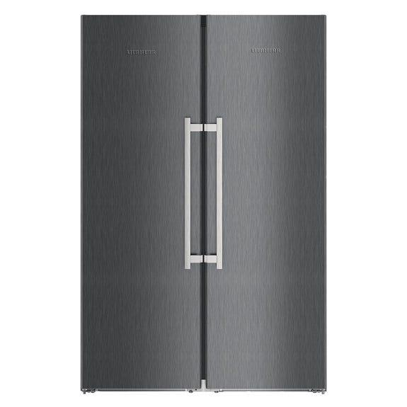 Liebherr 629 Litre Side By Side Refrigerator - Stainless Steel