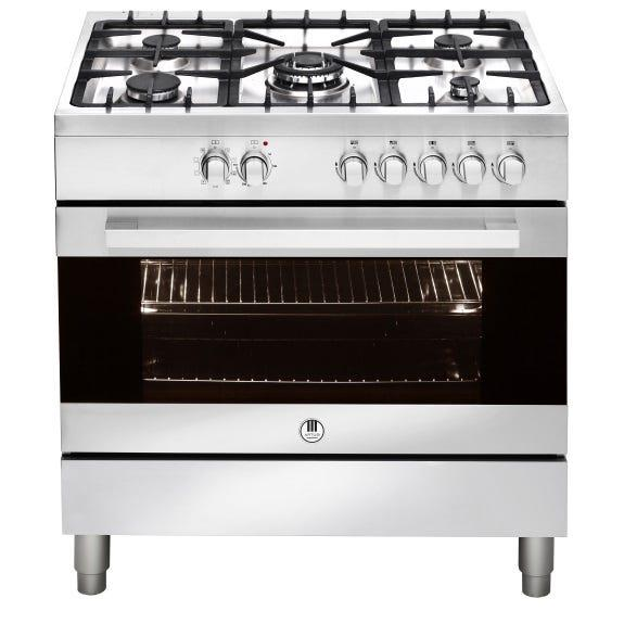 Artusi 90cm Freestanding Dual Fuel Cooker - Stainless Steel