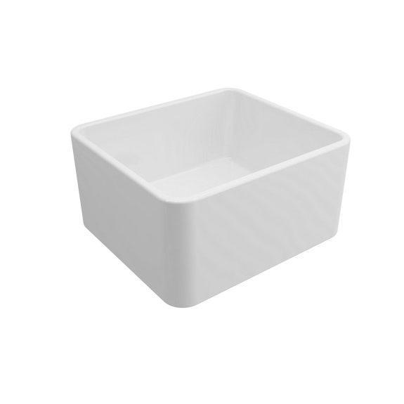 Turner Hastings Novi Fine Fireclay Single Bowl Butler Sink - Gloss White