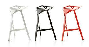 Replica Magis Stool One by Konstantin Grcic - stackable - black, white or red