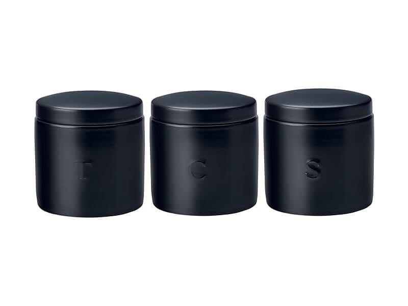 Maxwell  Williams Canister 600ml Set of 3 Black