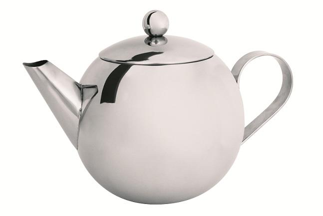 Avanti stainless steel teapot with laser etched infuser 900mL
