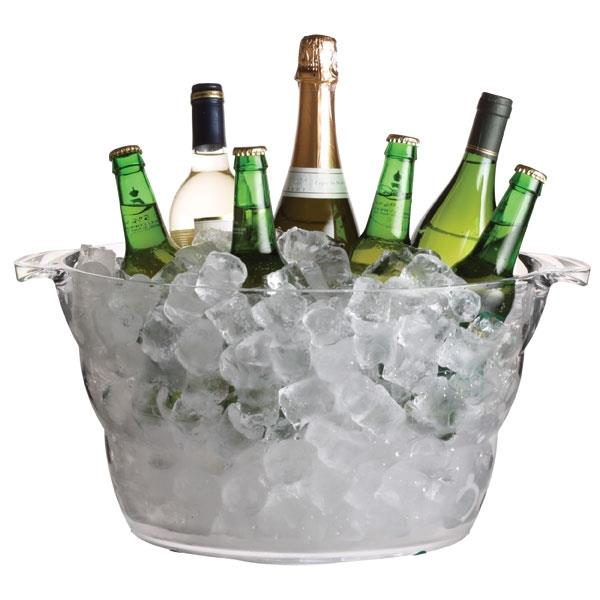 BarCraft Acrylic Large Oval Drinks Pail / Cooler