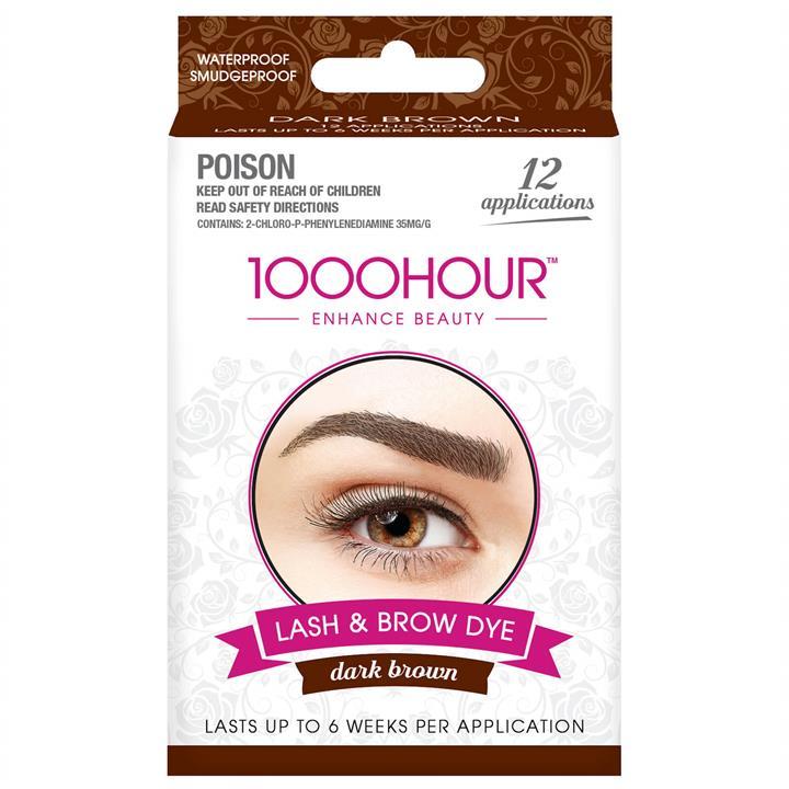 Image of 1000 Hour Eyelash & Brow Dye Kit - Dark Brown